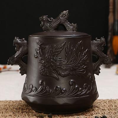 紫砂粗陶复古茶叶罐陶瓷 券后18.5元包邮
