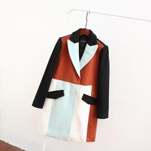 Mùa đông mới cắt tiêu chuẩn nữ mỏng cơ thể mỏng thời trang bầu không khí áo khoác dài áo len A1AA54354