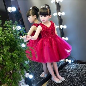 2018 trẻ em mới của váy cưới công chúa váy cô gái pettiskirt hoa cô gái sinh nhật ăn mặc trang phục buổi tối ăn mặc