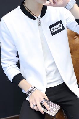 Mùa thu đồng phục bóng chày nam Hàn Quốc cardigan hoodie áo len thủy triều nam quần áo thanh niên sinh viên trai áo trắng Đồng phục bóng chày