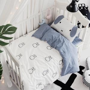 Mùa hè bông rửa cũi bông bốn bộ thiết lập Bộ đồ giường thân thiện với trẻ em - Túi ngủ / Mat / Gối / Ded stuff
