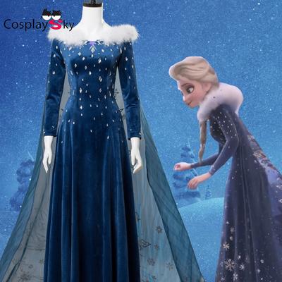 taobao agent Ice and Snow Extra Story cos Princess Aisha full set of cosplay costume Xuebao's Ice Adventure Dress