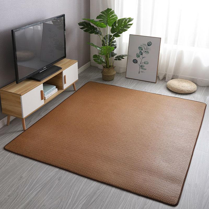 27日式藤编凉席地垫宝宝儿童爬行垫加厚榻榻米地垫地毯客厅卧室