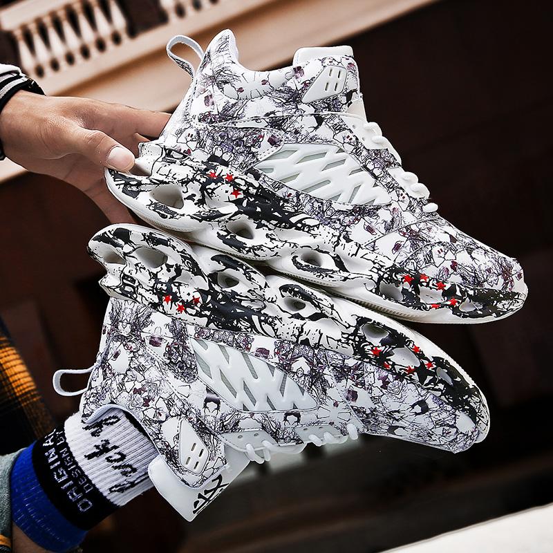 Giày nam mùa đông giày thể thao giản dị giày cũ cao cấp cộng với nhung cotton ấm giày cỡ lớn 48aj quýt giày bóng rổ - Giay cao