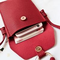 Корейская версия новая коллекция небольшой пакет пакет Карман для мобильного телефона один Маленькое плечо пакет с бахромой Мессенджер телефон пакет Мини девушка пакет волна