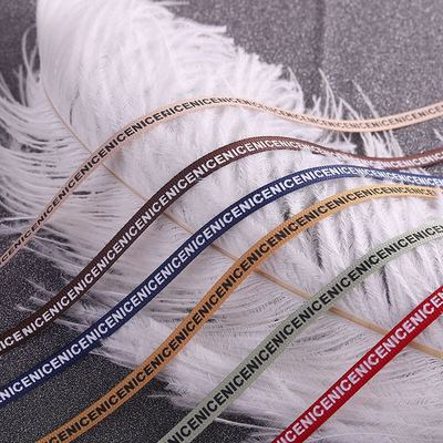 taobao agent 6mm wide 2m ribbed webbing NICE English letter bow threaded belt bjd baby clothes ob11 ribbon