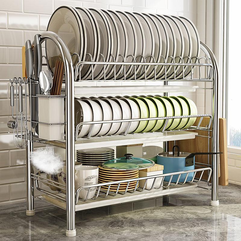 瀝水碗架刀架廚房神器收納置物架落地蔬菜架碗碟架櫥柜整理架用品