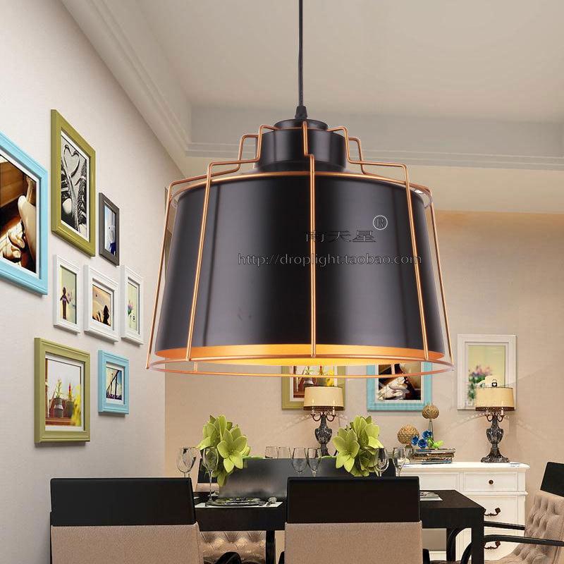 北欧黑色吧台吊灯个性服装店铺奶茶店工业风商用吊灯创意饭厅灯