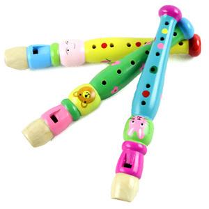 Trẻ em nhựa clarinet sáo nhạc cụ âm nhạc câu đố đồ chơi bằng gỗ bảo vệ môi trường an toàn không độc hại và không vị
