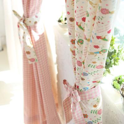 兔先生加厚全棉卡通韩式田园格子儿童飘窗客厅
