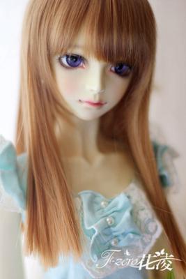 taobao agent 【Hua Ling】1/3 1/4BJD/DD Wig Everyday Qi Liu Hai Long Straight Hair Black Long Straight RL Giant Baby xaga