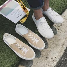 2017新款秋款低帮小白鞋文艺男鞋学生板鞋系带真皮休闲鞋609P115