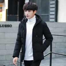 7121棉衣男士外套韩版修身棉袄加厚2017冬季新款连帽棉服短款潮流