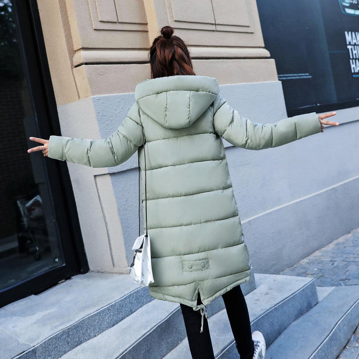Chống mùa bông phụ nữ phần dài 2018 mới Hàn Quốc phiên bản của lỏng dễ thương sinh viên bông áo khoác mùa đông mềm chị bông áo
