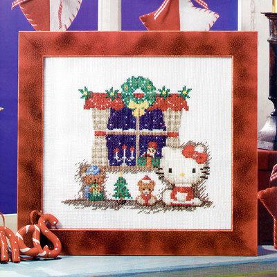 小小鱼精准印花十字绣套件欧式杂志款Crazy119-2冬日的夜玩偶圣诞