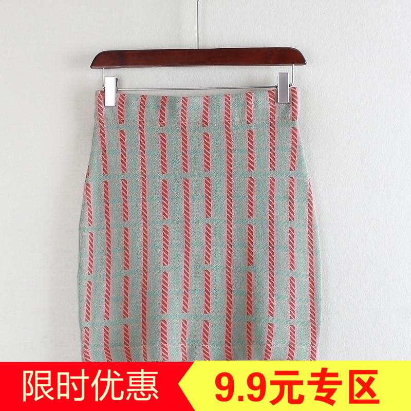 M loạt của phụ nữ quầy giảm giá thời trang Hàn Quốc slim cao eo bông đan váy nữ đàn hồi Y14001