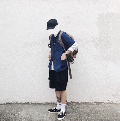SUPERTOFU 2017AW Trọng lượng nhẹ ngắn tay áo bóng chày phù hợp với kaki màu xanh Đồng phục bóng chày
