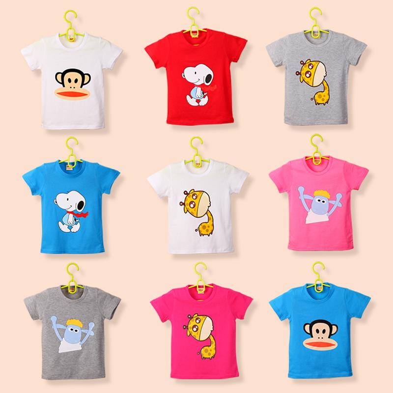 2018 trẻ em mới của ngắn tay t-shirt cotton t-shirt trẻ em quần áo bé trai và bé gái bé nửa tay áo sơ mi trắng Hàn Quốc phiên bản