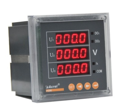 安科瑞PZ80-AV3/C 带通讯RS485-MODBUS 三相数字式 显示电压表