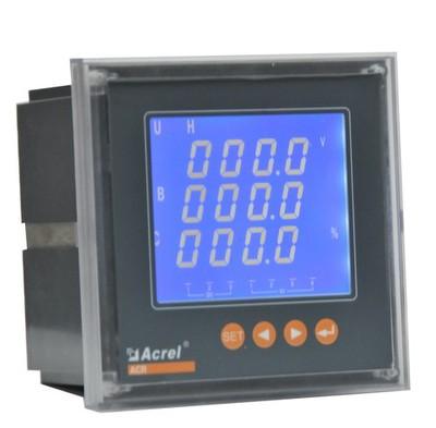 安科瑞厂家PZ72L-AV3/KC 三相电压表 液晶显示 开关量 RS485通讯