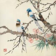 Nổi tiếng cổ thêu nghệ thuật thêu thêu diy kit người mới bắt đầu handmade sơn trang trí thrush bird 40 * 40 CM
