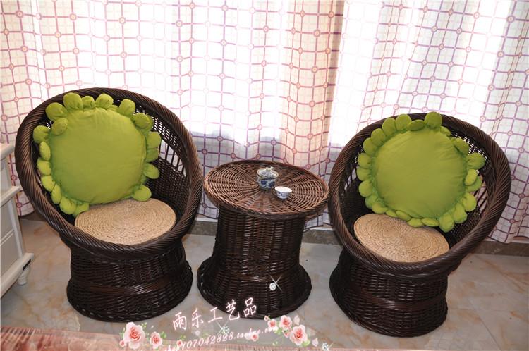 Sofa wicker mây tre và đồ nội thất dân cư vườn new fan-shaped ghế ghế mây ba mảnh đặc biệt cung cấp