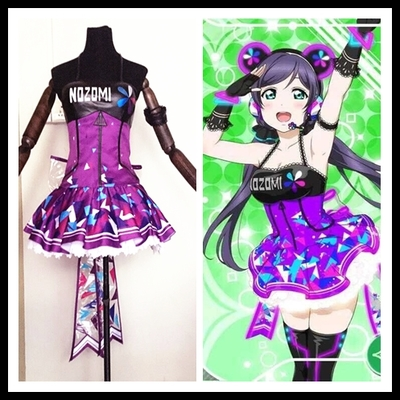taobao agent Spot butterfly home lovelive video game awakening Tojo Nozomi cos clothing skirt bracelet shoes led
