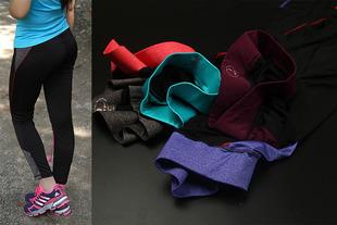 Внешняя торговля дух женские модели лето тонкая модель плотно высокая эластичность смешанные цвета йога обучение брюки движение брюки CD1-H695