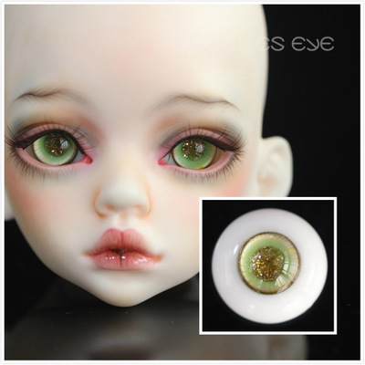 taobao agent 【Beetles】BJD doll handmade glass eyes mixed color series/golden sand pupil H-05*Hami melon*