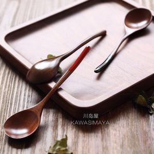 Kawashima Nhà Nhật Bản-phong cách Nanmu Couple Muỗng Gạo Thìa Súp Thìa Gỗ Muỗng Bằng Gỗ Bộ Đồ Ăn S-