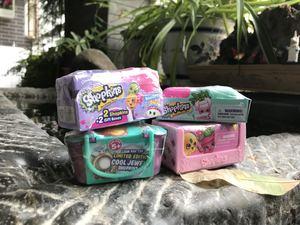 Mỹ shopkins mua sắm elf trái cây thương gia mù hộp mù gói bất ngờ trứng chơi nhà bộ sưu tập đồ chơi
