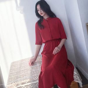 【实拍】2018夏季赫本风气质收腰连衣裙 5026-Q02-P85
