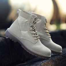 米爆款战狼同款秋季韩版马丁靴男士英伦军靴工装短靴皮靴