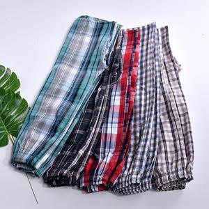 Mùa hè của nam giới năm quần nam quần lớn bông kẻ sọc cha 5 điểm quần short giản dị nhà quần ngủ quần bãi biển quần