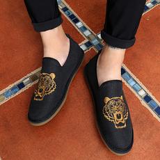 2017中国风青少年鞋子潮流韩版男港风经典帆布鞋平板鞋RL768