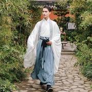 Trở lại Hantang 陇 上 乐 ban đầu truyền thống hàng ngày Hanfu thêu nam duy nhất lớn 氅 lớn tay áo cp vài mùa xuân và mùa hè