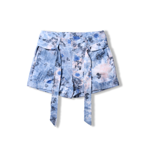 2018 mùa hè mới nữ thời trang in Slim quần short giản dị cá tính Hàn Quốc phiên bản của quần short phụ nữ mỏng 7935