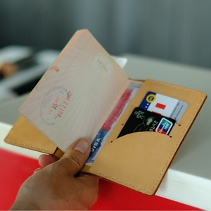 Da hộ chiếu giữ tài liệu du lịch túi da Nhật Bản Hàn Quốc lưu trữ vé túi hộ chiếu gói bảo vệ bìa tài liệu thư mục