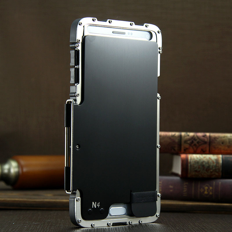 Armor King Iron Man Luxury Shockproof Stainless Steel Aluminum Metal Flip Case Cover for Samsung Galaxy Note 4/3/2