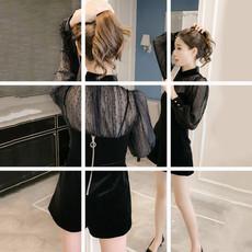 秋冬季套装女装冬装2017新款时尚潮休闲短裤气质韩版高腰bf两件套