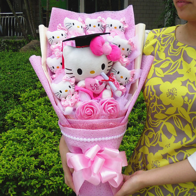 HelloKitty Doll Cartoon Bouquet Gift Box Valentine's Day Girlfriend Birthday Gradution Christmas Gift