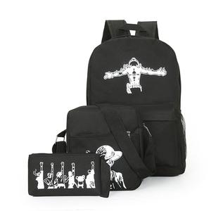 2016新款三件套包中性款包单肩包双肩包手拿包海贼王迷专属款