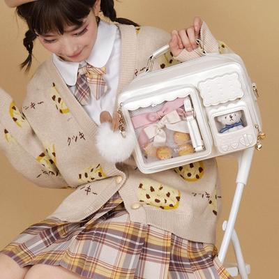 taobao agent DRDR original microwave oven pain bag shoulder and shoulder messenger bar lashing board Lolita Japanese jk uniform girl bag