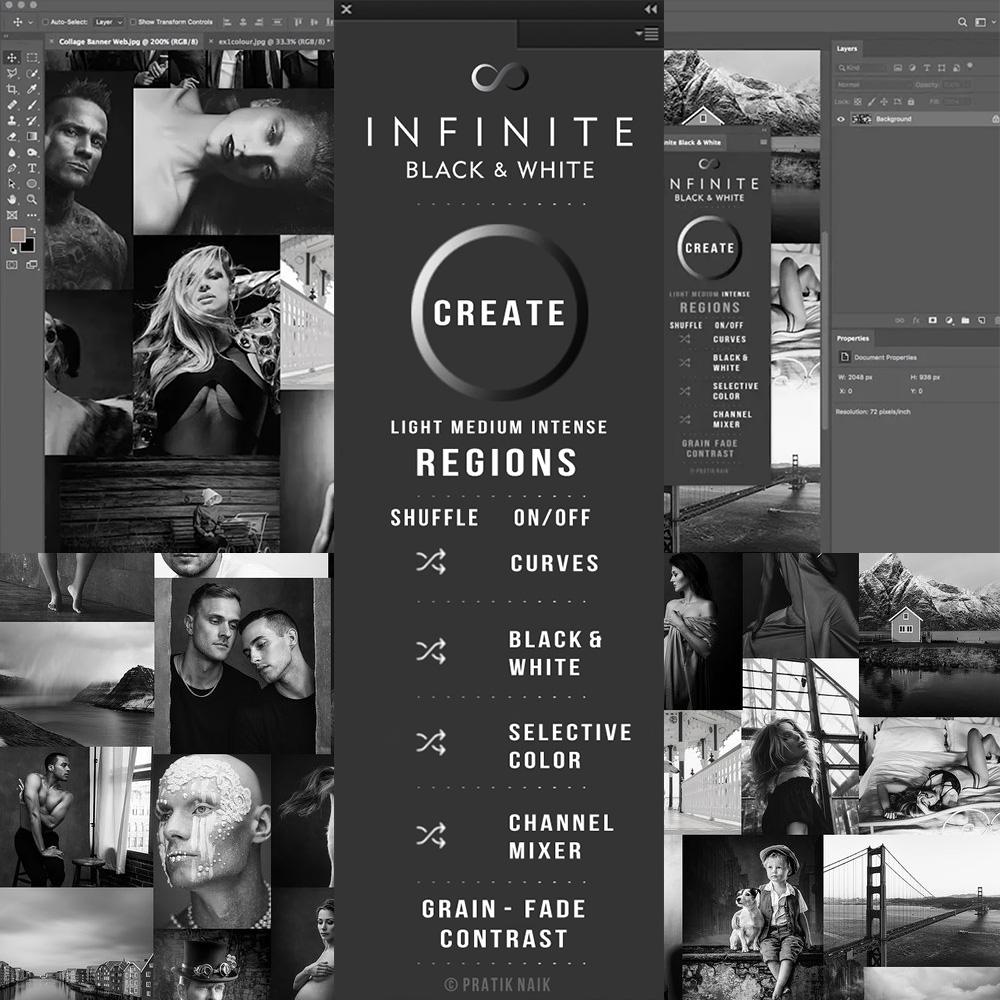 【S670】中文版 Infinite无限黑白 photoshop面板WIN