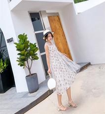 实拍现货6033# 新款潮妈时尚网纱拼接碎花孕妇裙两件套(新加颜色
