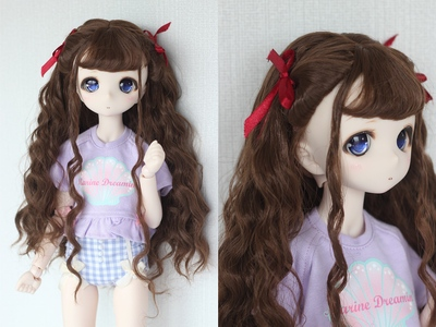 taobao agent 【Kaka Planet】bjd doll wig 3 points 4 points 6 points super soft silk classical elegant long curly hair small double ponytail