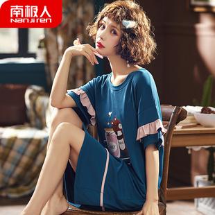 【南极人】夏季清新韩版纯棉睡裙