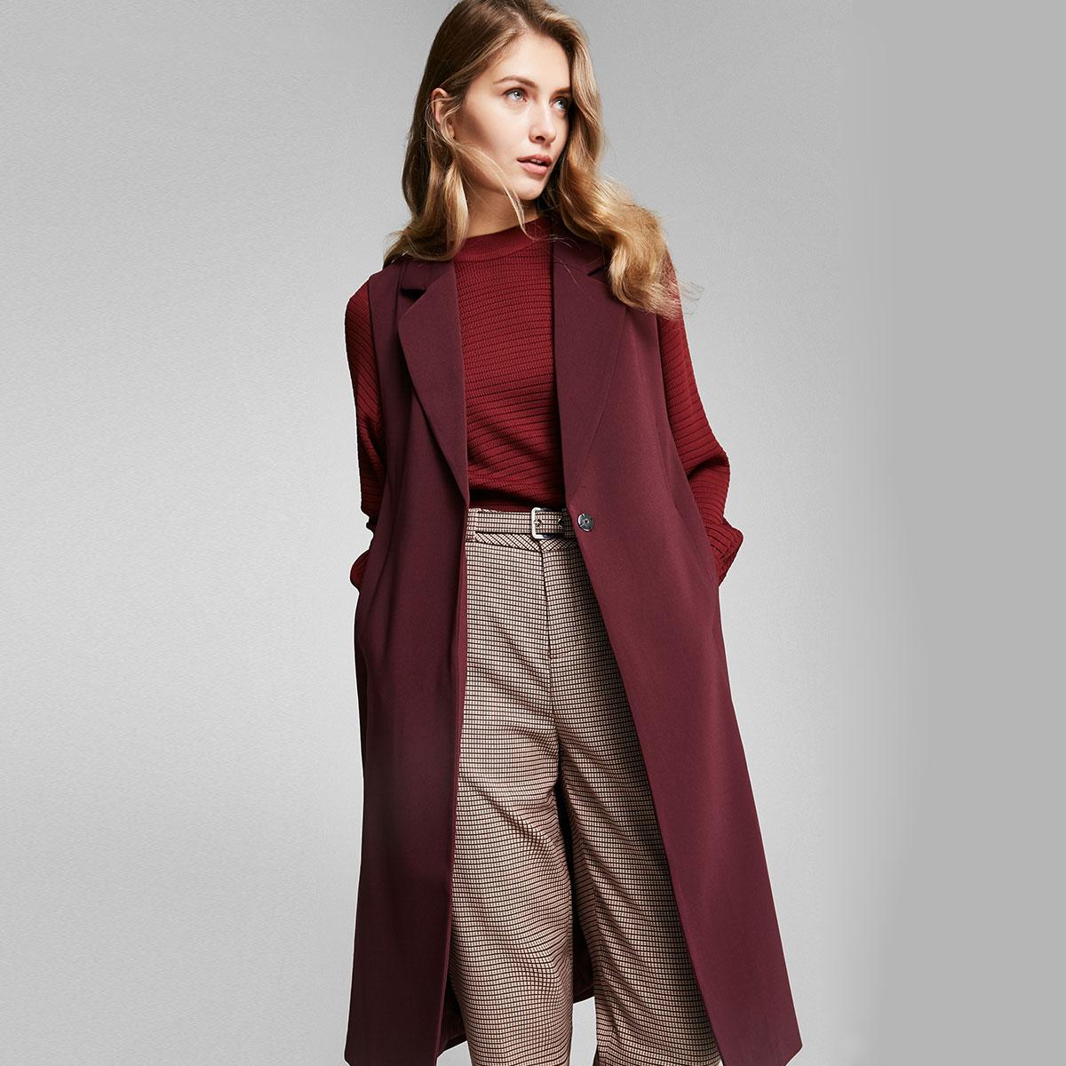 Vero Moda phù hợp với ve áo chia vest dài | 317134502