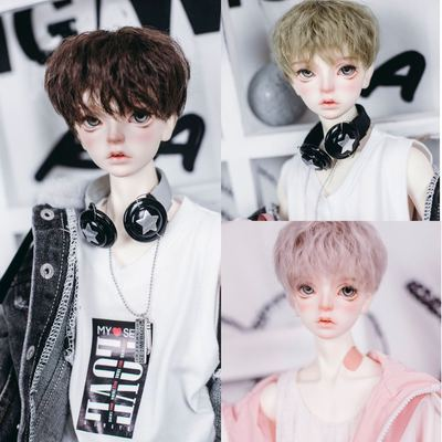 taobao agent Uncle Luo's bjd wig, high temperature wire, small head circumference, uncle 3 points 4 points size, club hair 3 tops