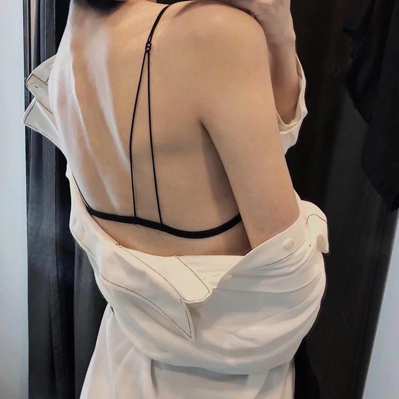 平胸内衣推荐:网红款内衣三角杯文胸 尽显美背-2